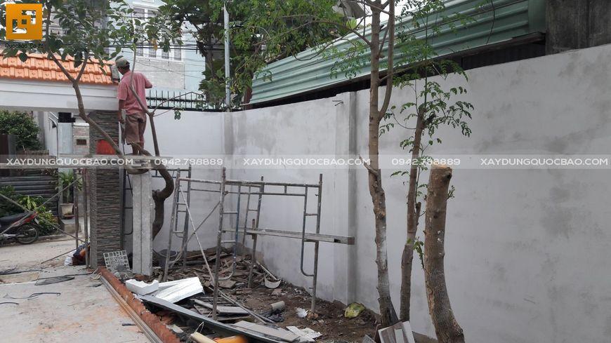 Thi công nhà phố sân vườn anh Hiếu tại Biên Hòa - Ảnh 2
