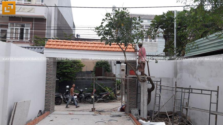 Thi công nhà phố sân vườn anh Hiếu tại Biên Hòa - Ảnh 3