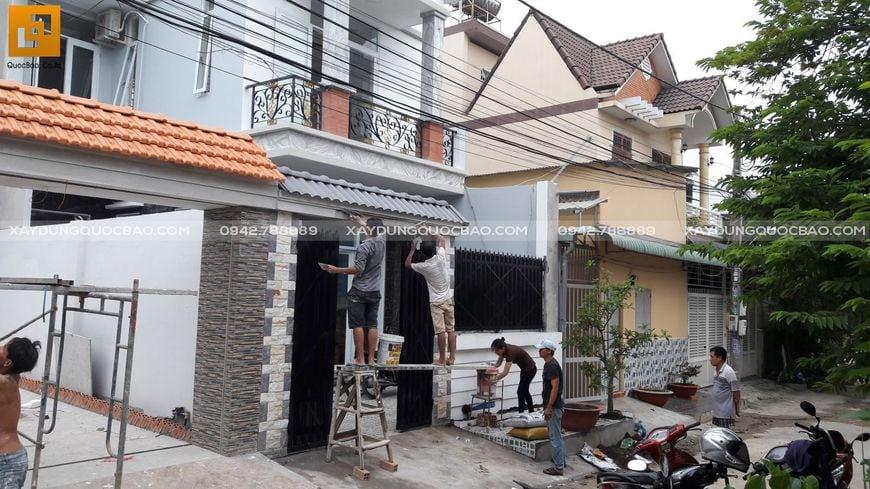 Thi công nhà phố sân vườn anh Hiếu tại Biên Hòa - Ảnh 4