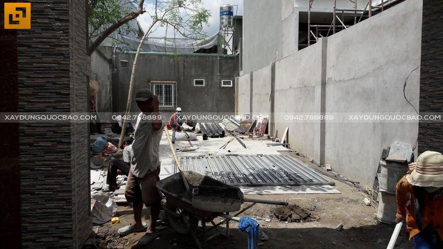 Thi công nhà phố sân vườn anh Hiếu tại Biên Hòa - Ảnh 5