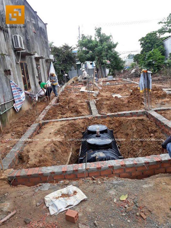 Thi công bể tự hoại ngầm thương hiệu Sơn Hà