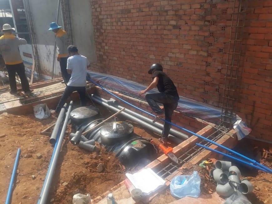 Lắp đặt bồn tự hoại septic Sơn Hà