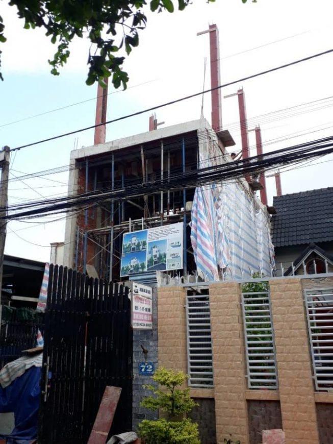 Thi công đổ bê tông dầm, đà, kiềng các tầng - Ảnh 3
