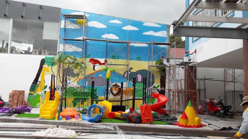 Thi công trường mầm non song ngữ Ánh Sao Xanh tại Biên Hòa - Ảnh 16