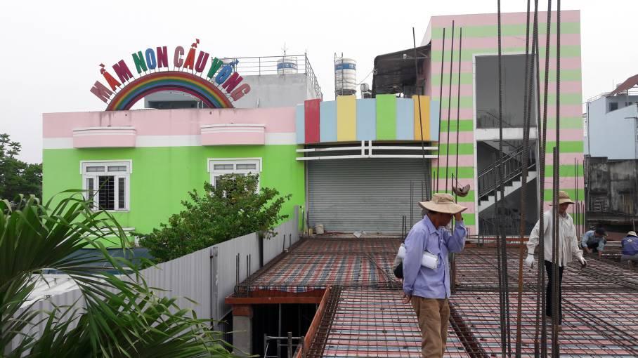 Thi công trường mầm non Cầu Vồng Tam Hiệp - Biên Hòa- Đồng Nai - Ảnh công trường 3