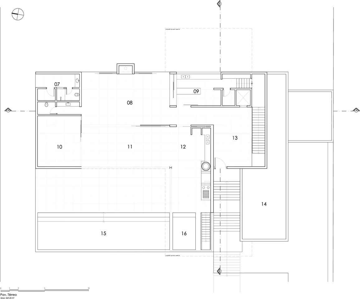 Bản vẽ thiết kế của Villa kết cấu thép - Ảnh 4