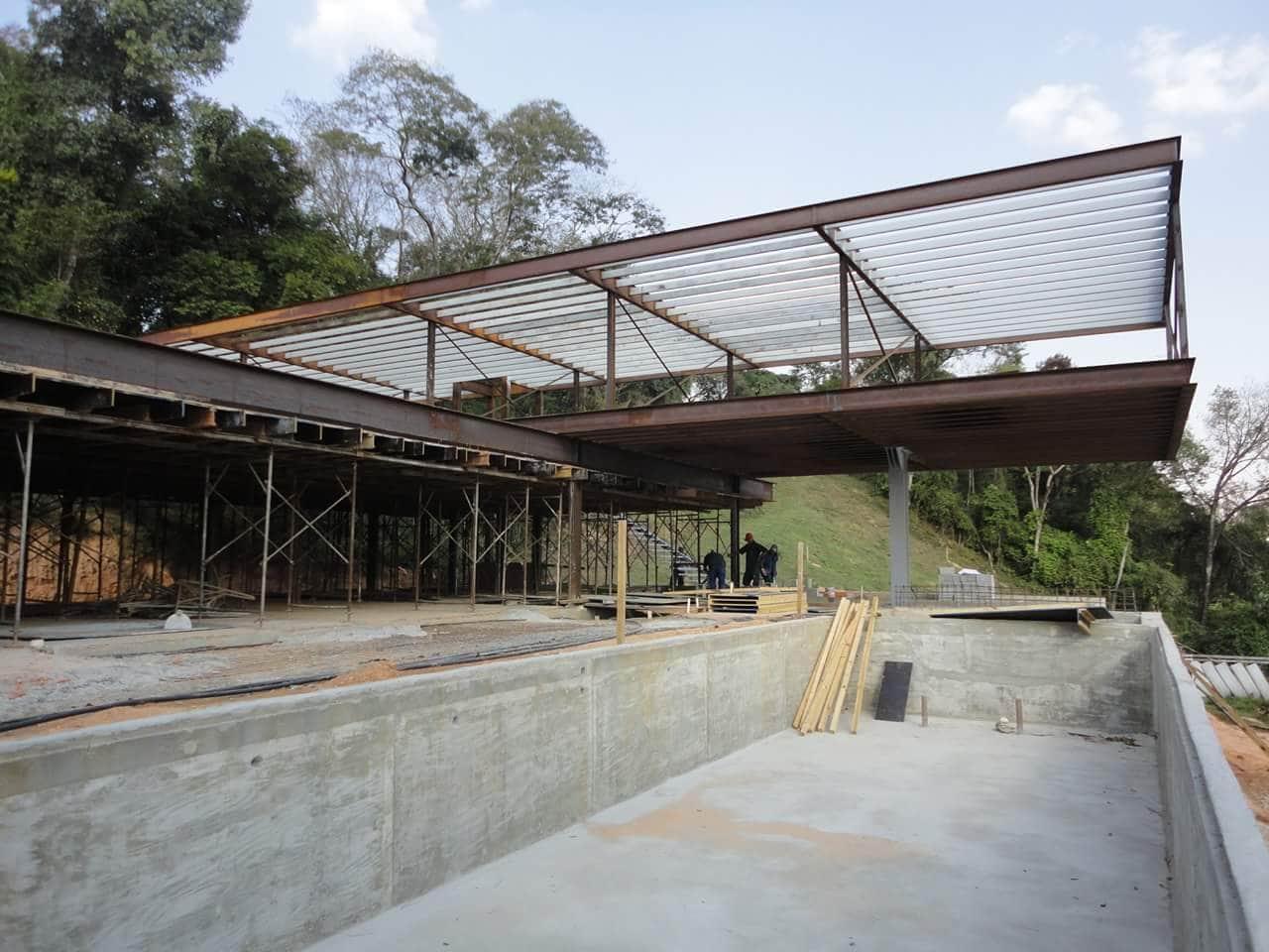 Thi công villa kết cấu thép tại Bãi Dâu - Vũng Tàu - Ảnh công trường 1
