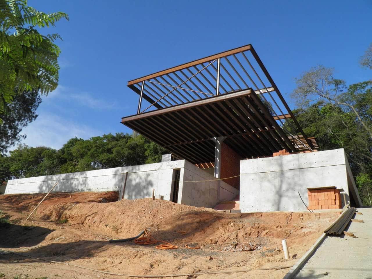 Thi công villa kết cấu thép tại Bãi Dâu - Vũng Tàu - Ảnh công trường 3