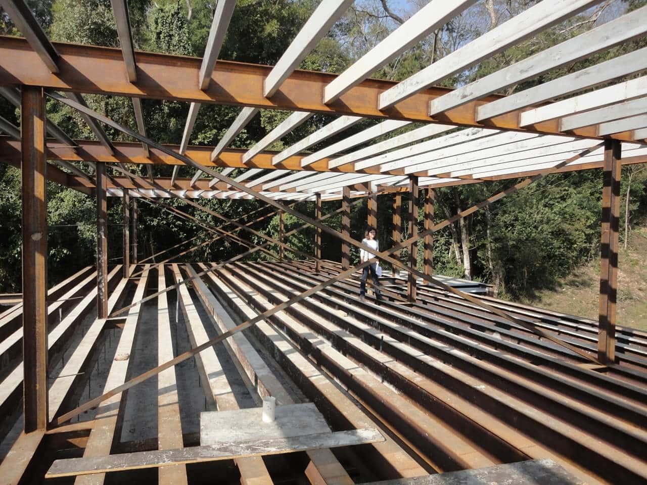 Thi công villa kết cấu thép tại Bãi Dâu - Vũng Tàu - Ảnh công trường 2