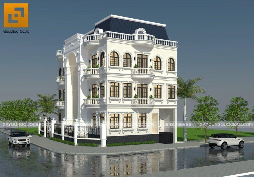 Thiết kế Biệt thự Cổ điển phong cách Pháp tại Biên Hòa - Đồng Nai