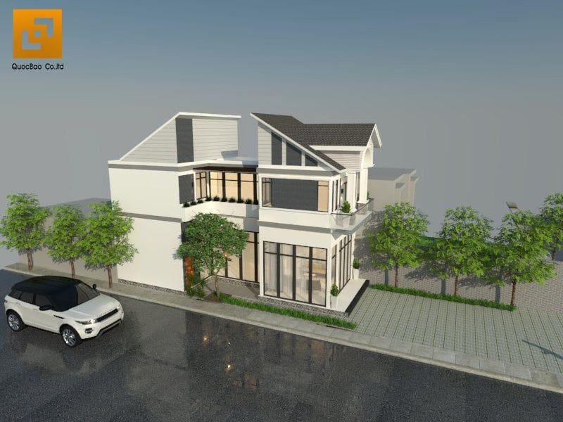 Thiết kế biệt thự nhà vườn gia đình anh Nam tại Trảng Bom - Đồng Nai