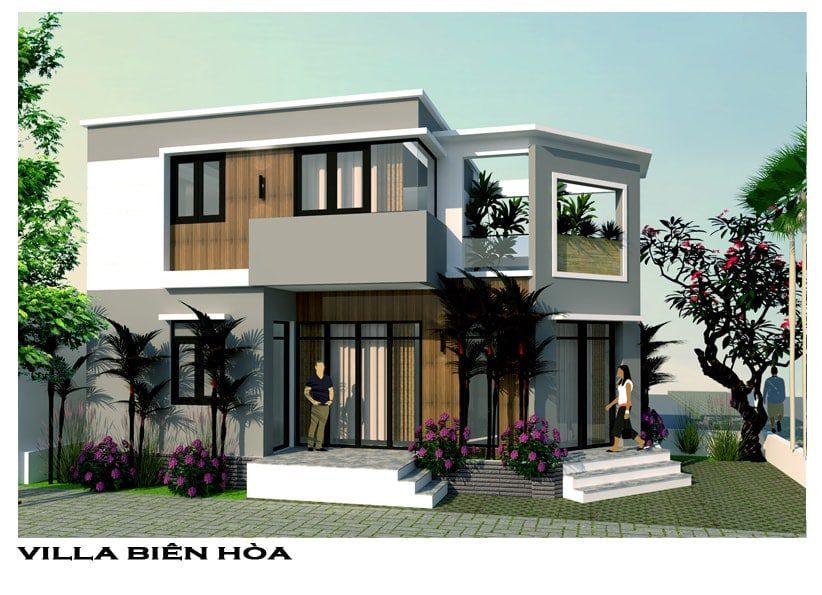 Thiết kế biệt thự phố cô Lan phường Tam Hiệp - Biên Hòa - Đồng Nai