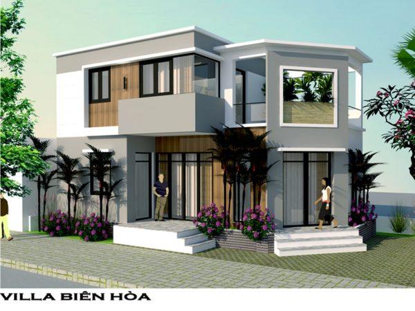 Mặt tiền biệt thự phố cô Lan phường Tam Hiệp - Biên Hòa - Đồng Nai