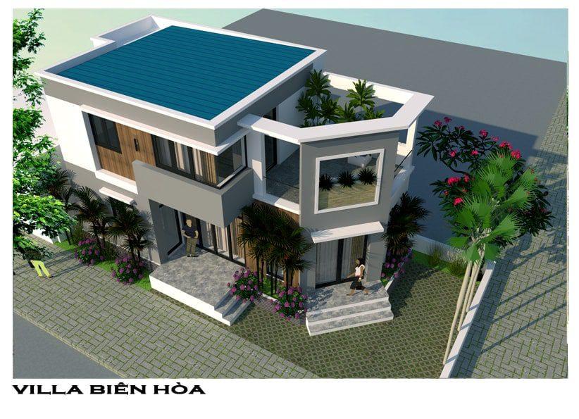 Phối cảnh tổng thể biệt thự phố cô Lan phường Tam Hiệp - Biên Hòa - Đồng Nai