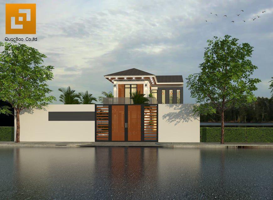 Thiết kế cổng nhà đẹp và hiện đại