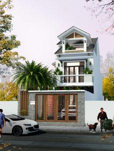 Thiết kế ngôi nhà phố gia đình bác sỹ Hùng tại Biên Hòa - Đồng Nai