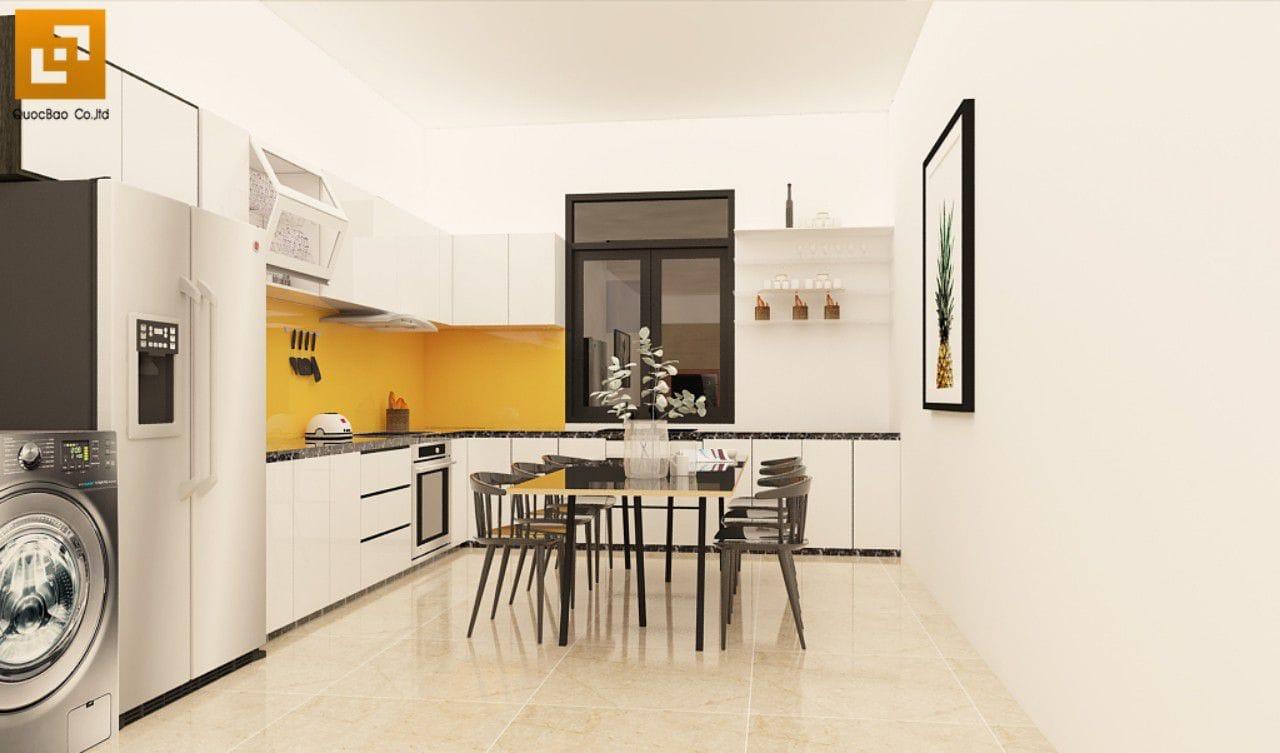 Thiết kế nhà bếp nhà phố gia đình anh Châu tại Biên Hòa