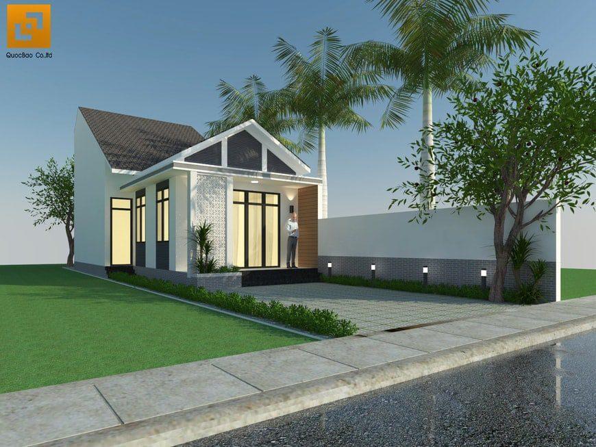 Thiết kế nhà phố anh Hoàng tại Nhơn Trạch Đồng Nai