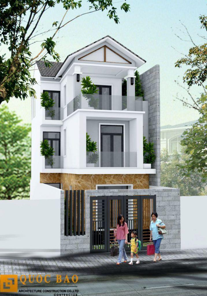 Thiết kế nhà Phố gia đình anh Hữu tại ngã 3 Tân Vạn - Bình Dương