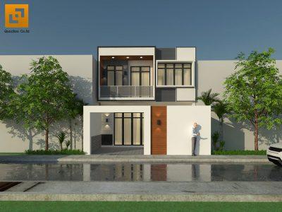 Thiết kế nhà phố hiện đại gia đình anh Bằng tại Biên Hòa - Đồng Nai