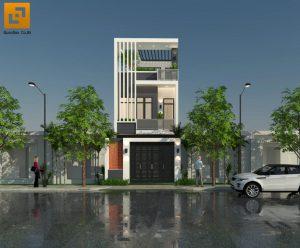 Thiết kế ngôi nhà phố chú Bốn cô Loan tại P. Hố Nai, Tp. Biên Hòa, T. Đồng Nai
