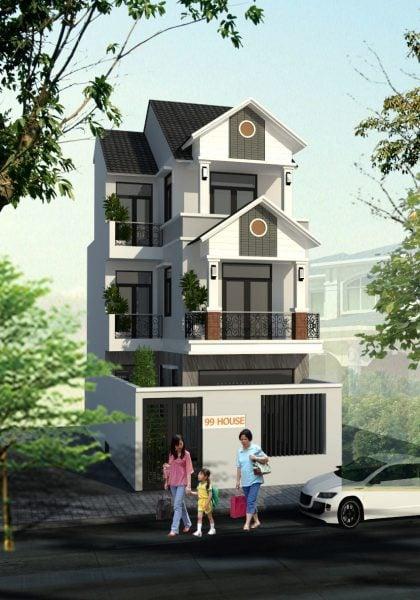 Thiết kế nhà phố hiện đại anh Hùng tại Tam Hiệp - Biên Hòa