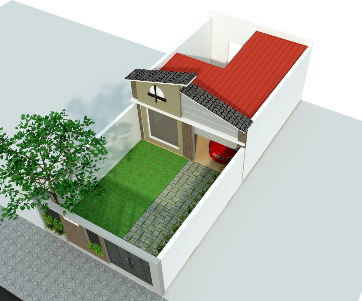 Thiết kế nhà phố sân vườn anh Hiếu tại Tam Hiệp - Biên Hòa - Đồng Nai