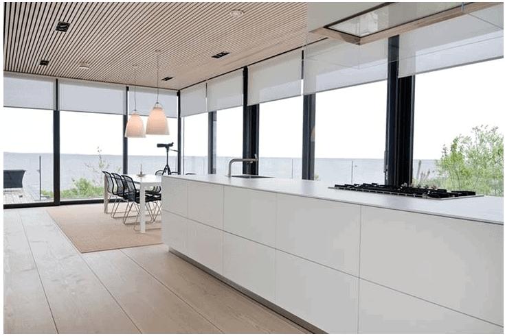 thiết kế phòng bếp biệt thự rộng rãi