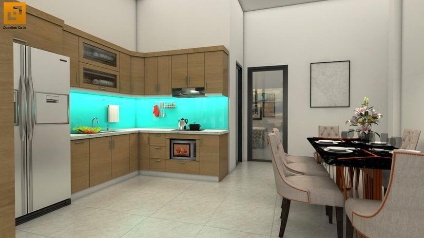 Phòng ăn bố trí trong phòng bếp