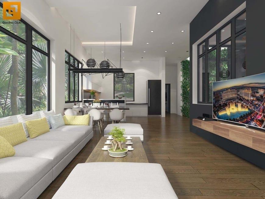 Thiết kế nội thất phòng khách căn Biệt thự