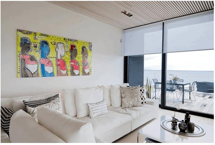 Thiết kế phòng khách độc đáo biệt thự 2 tầng hiện đại Biên Hòa