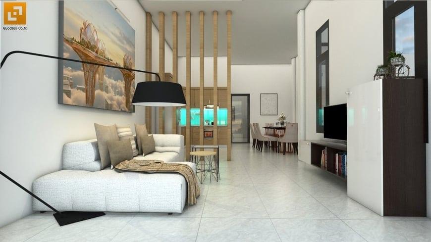 Thiết kế phòng khách Biệt thự mái thái