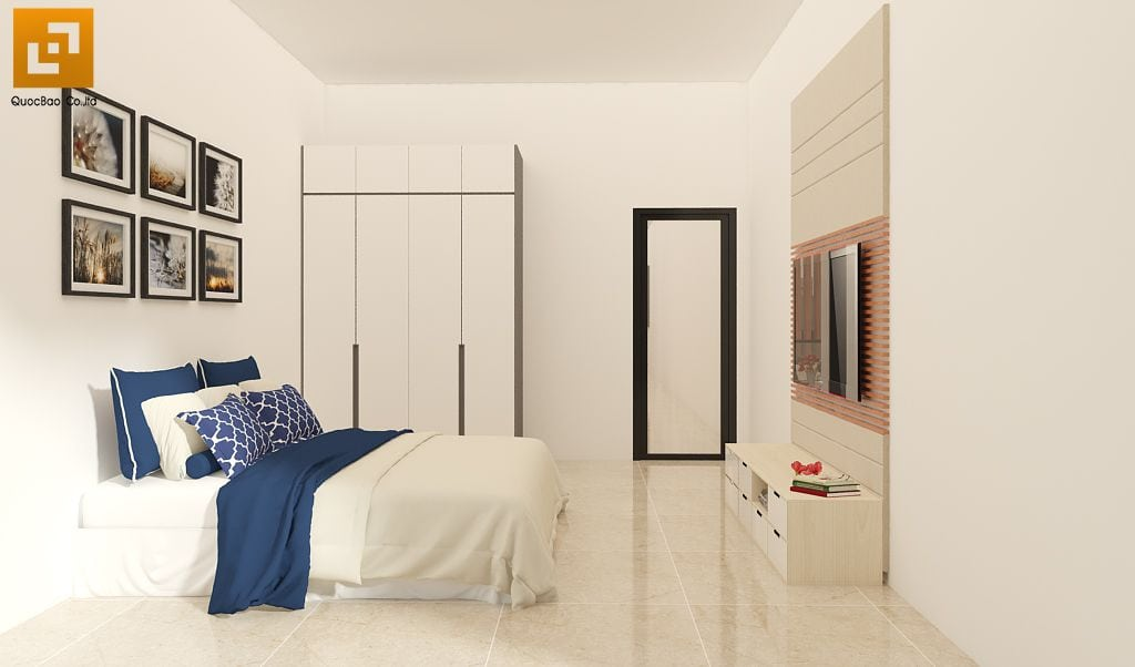 Thiết kế phòng ngủ nhà phố gia đình anh Châu tại Biên Hòa