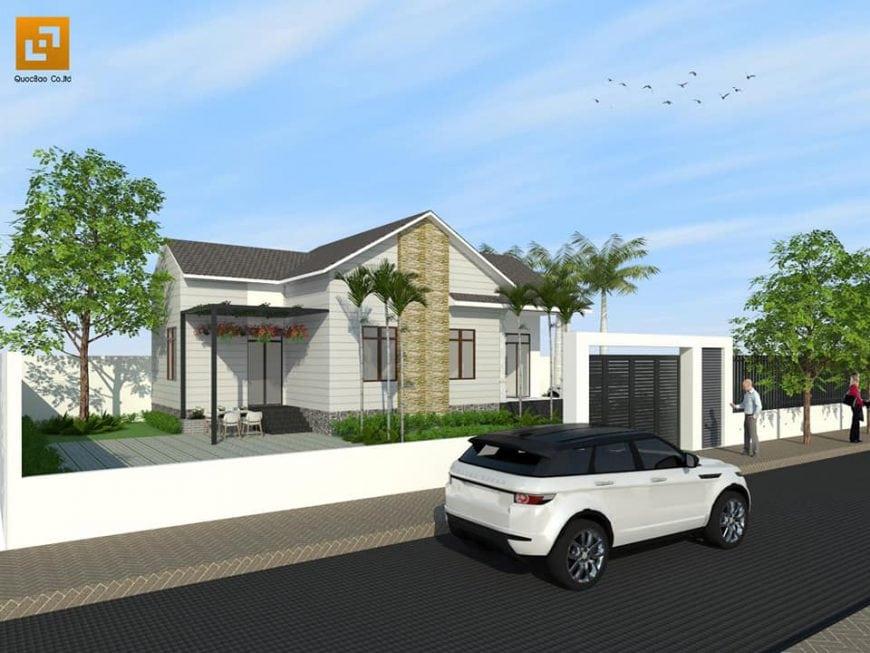 Thiết kế Biệt thự mái thái đầy đủ tiện nghi cho gia đình 4-5 người tại Tp. Biên Hòa, Đồng Nai