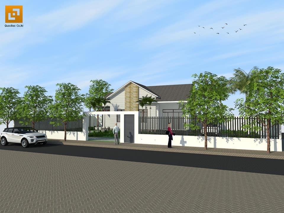 Mặt tiền biệt thự nhà vườn gia đình anh Vương tại Trảng Bom