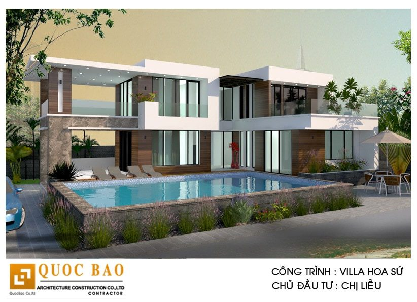 Thiết kế thi công biệt thự hiện đại gia đình chị Liễu tại P. Trảng Dài, Tp. Biên Hòa, T. Đồng Nai
