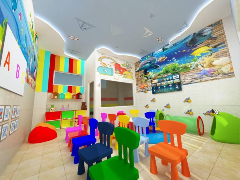 Thiết kế phòng học trường mầm non Cầu Vồng - Tam Hiệp - Biên Hòa - Đồng Nai