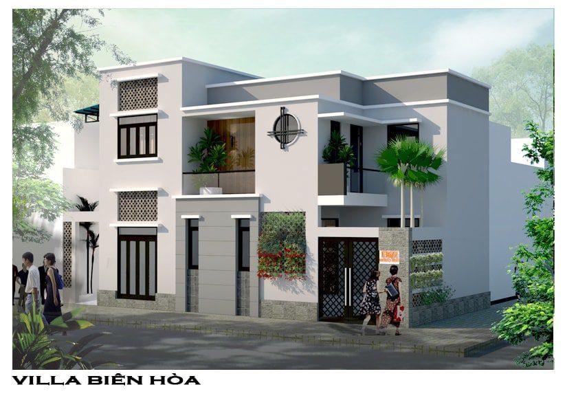 Thiết kế Villa đẹp gia đình anh Khánh tại Phường Tam Hiệp, Tp. Biên Hòa, Đồng Nai