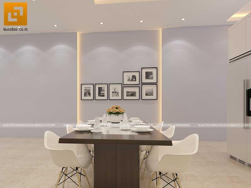 Tranh treo tường là điểm nhấn nổi bật khu vực phòng ăn