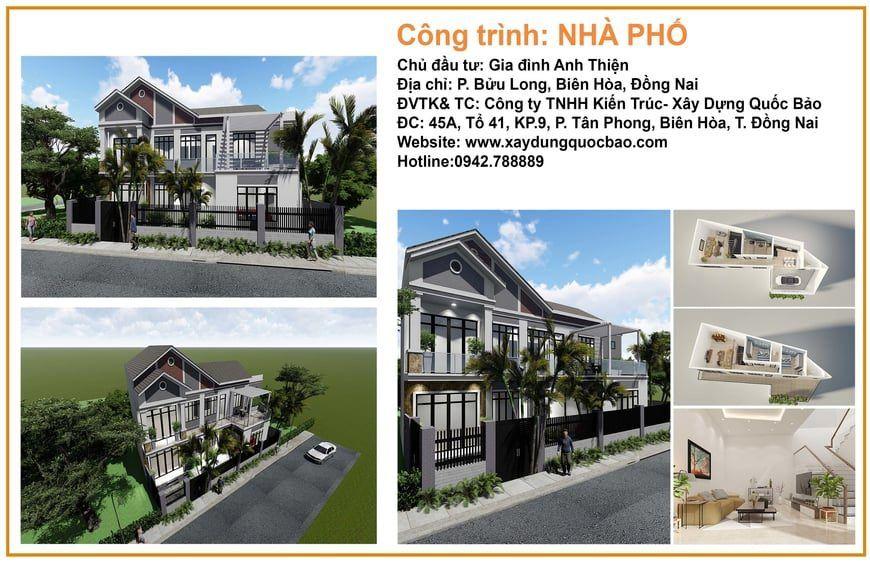Công trình nhà phố anh Thiện tại phường Bửu Long, Tp. Biên Hòa