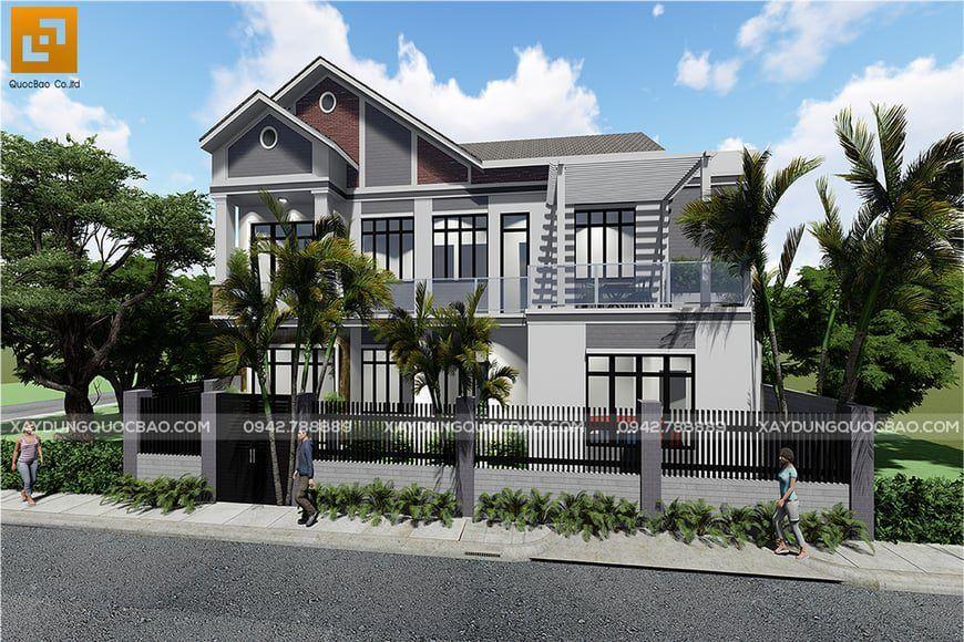 Mặt tiền nhà phố 2 tầng đẹp của anh Thiện tại Bình Dương