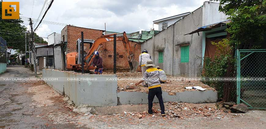 Khởi công xây nhà phố 2 tầng anh Thiện tại Biên Hòa - Ảnh 3