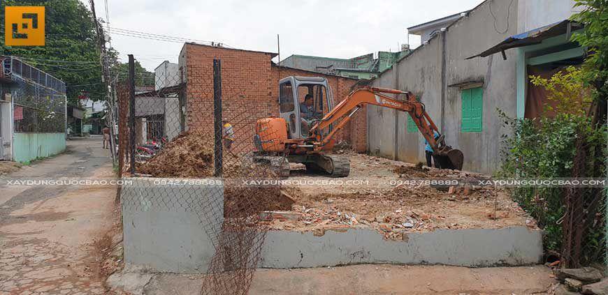 Công tác phá dỡ công trình cũ, khai phóng mặt bằng thi công