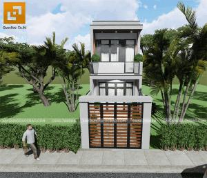 Thiết kế nhà phố 1 trệt 1 lầu đẹp tại Biên Hòa, Đồng Nai
