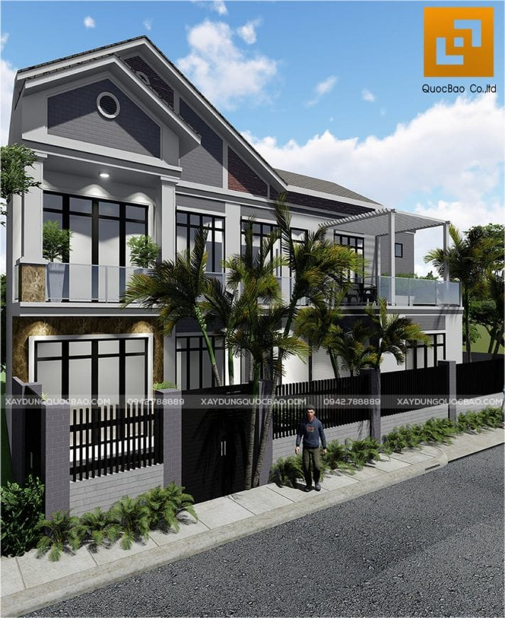 Thiết kế nhà phố 1 lầu 1 trệt đẹp của gia đình anh Thiện tại Biên Hòa, Đồng Nai