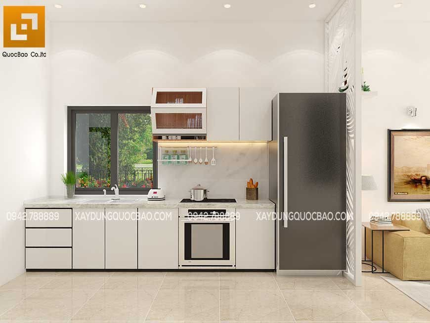 Nội thất phòng bếp và nhà ăn nhà phố 1 trệt 1 lầu