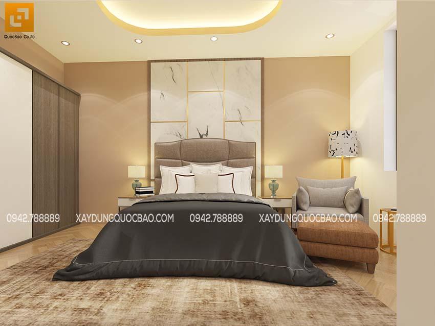 Nội thất phòng ngủ master tầng trệt