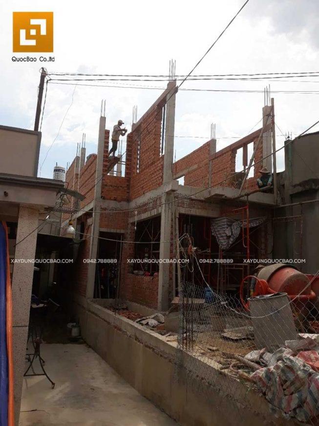 Thi công nhà phố anh Phương - Ảnh 10