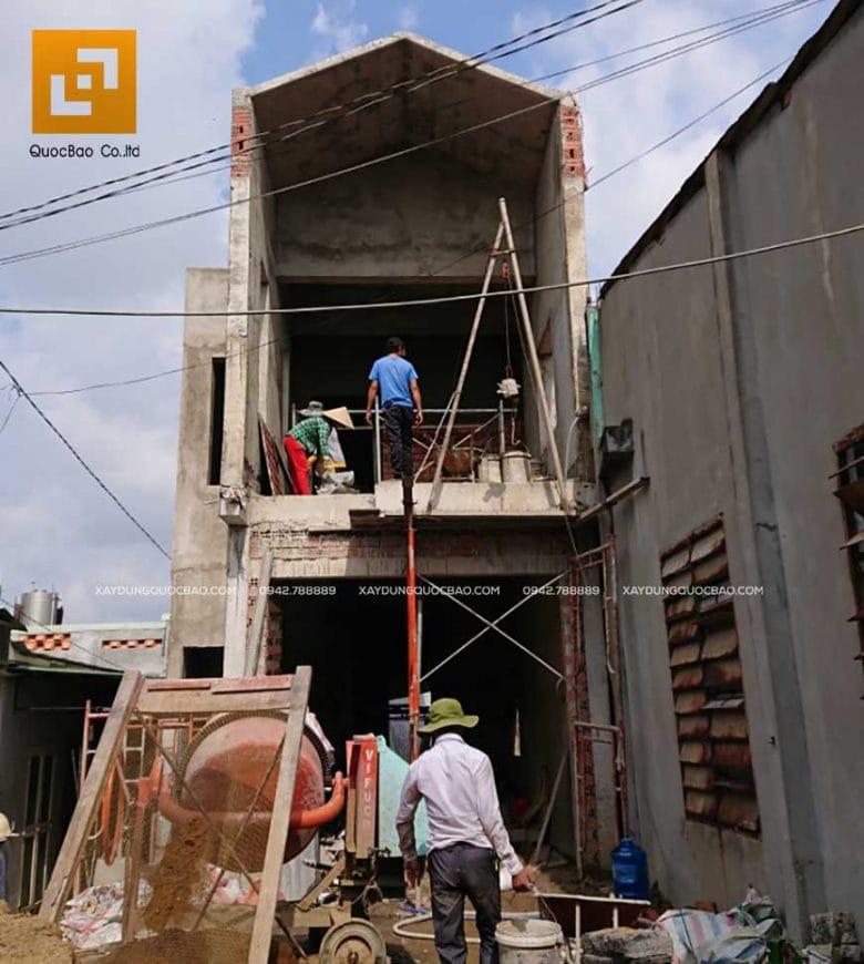 Công tác xây tô nhà phố 2 tầng - Ảnh 1