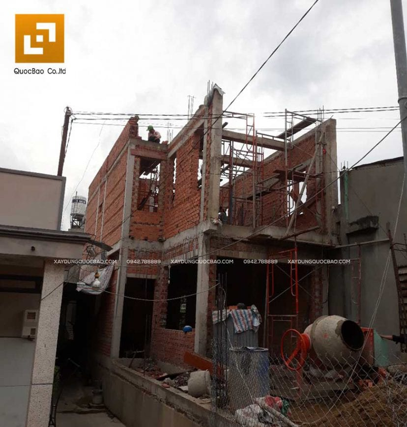 Thi công nhà phố anh Phương - Ảnh 9